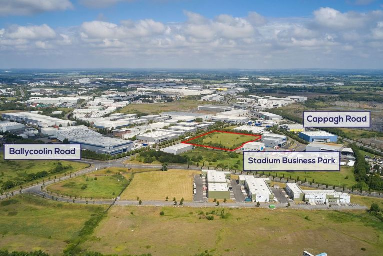 The site, marked in red, would likely suit occupiers who wish to self-build and investors and developers alike