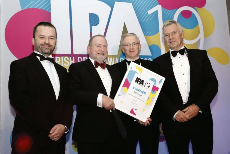 Niall O'Driscoll (Southern Star), Peter Doyle (Agfa), Tony Butler and Donagh O'Doherty (Webprint)
