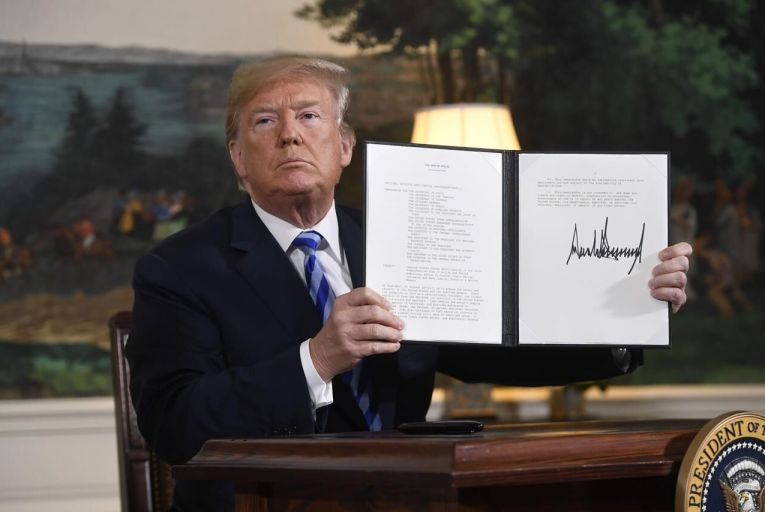Trump pulls US out of 'horrible' Iran deal