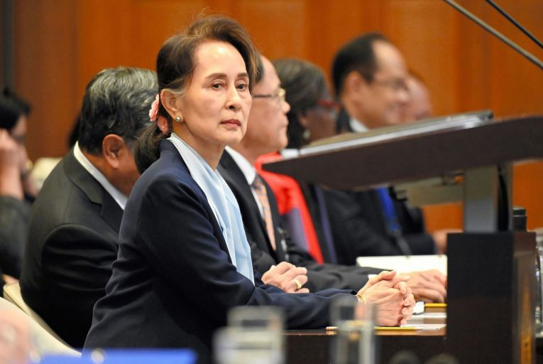 Aung San Suu Kyi Appears In International Court Of Justice On Genocide Of Rohingya People. Picture: Getty