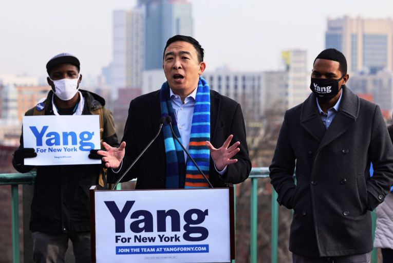 Andrew Yang is running for mayor of New York City. Picture: Getty