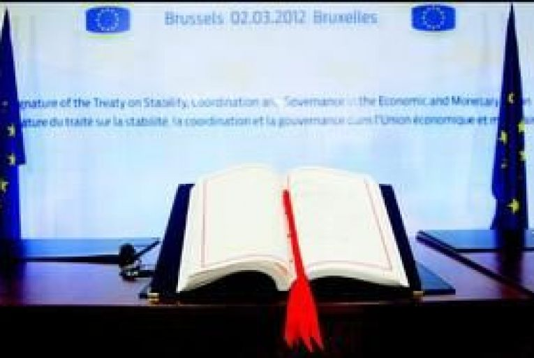 The fiscal treaty as signed by Enda Kenny and other EU leaders.