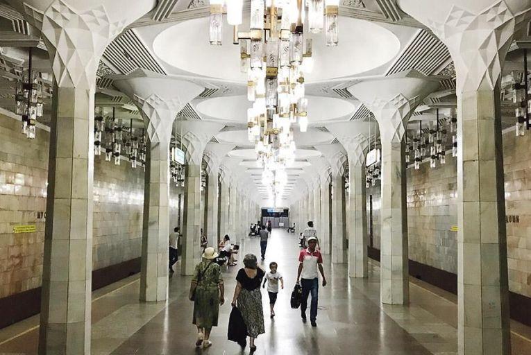 A metro station in Tashkent