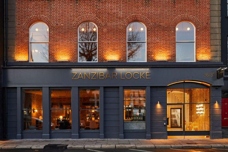 The exterior of the remodelled Zanzibar Locke on Lower Ormond Quay in Dublin.