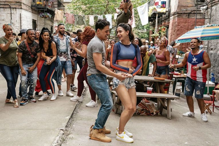 Anthony Ramos and Melissa Barrera in In the Heights which is packed with positive energy
