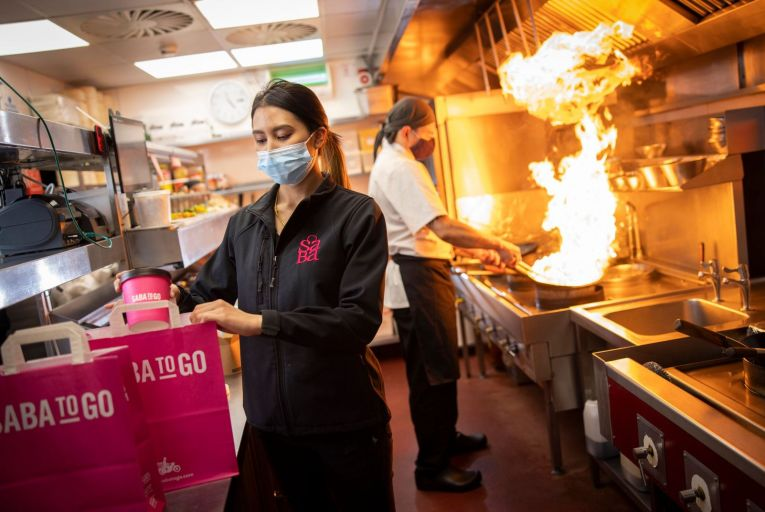 Saba To Go is now offering half-scratch pre-prepared menus that you simply heat. Picture: Fergal Phillips