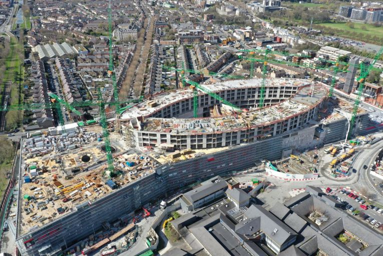 Only 20 per cent of the new National Children's Hospital has so far been completed, with it unlikely to open until 2024, two years behind schedule
