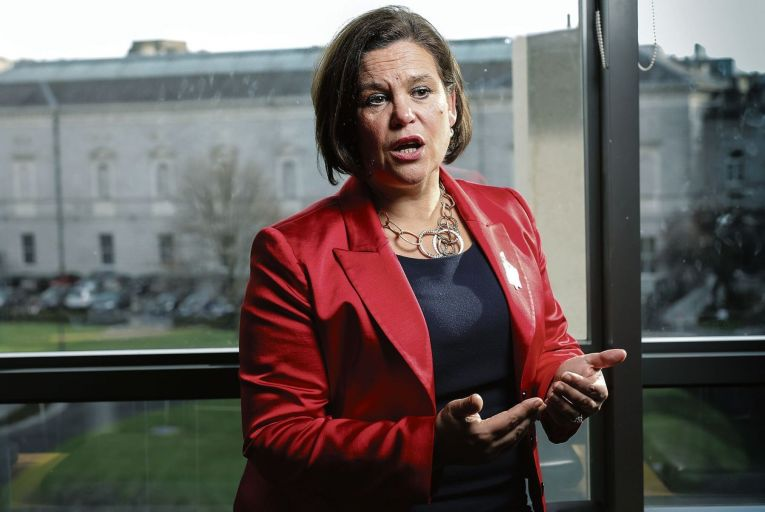 Mary Lou McDonald, the Sinn Féin leader, said changes to the local property tax code would squeeze the ordinary owners of family homes. Picture: Fergal Phillips