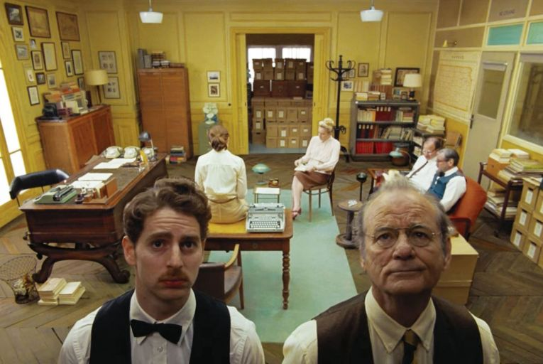 Pablo Pauly and Bill Murray in The French Dispatch: an uproariously funny and sweet-hearted movie joyously delivered in gloriously deadpan style by the entire ensemble