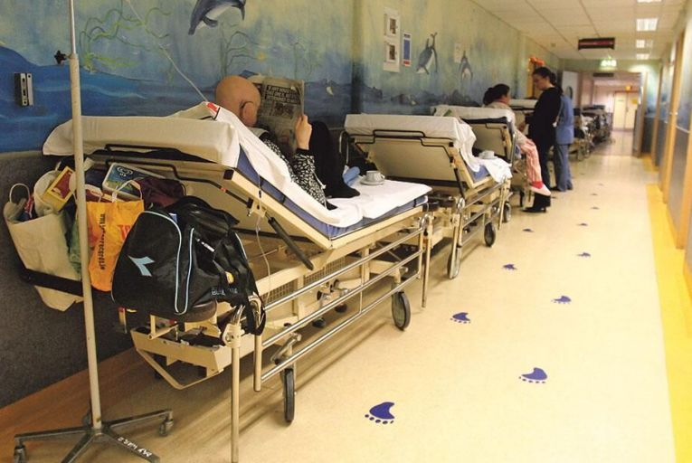 Patients can often face lengthy    waiting times on trolleys in the  emergency departments of the  country's hospitals