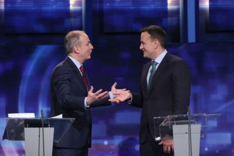 A second meeting between Taoiseach Leo Varakar and Fianna Fáil leader Micheál Martin was followed by identical statements from their parties. Picture: Niall Carson/PA