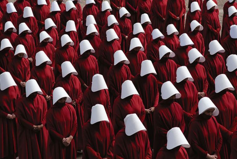 A scene from the TV adaptation of The Handmaid's Tale: the novel's place on the Leaving Cert curriculum was the subject of debate on Liveline this week