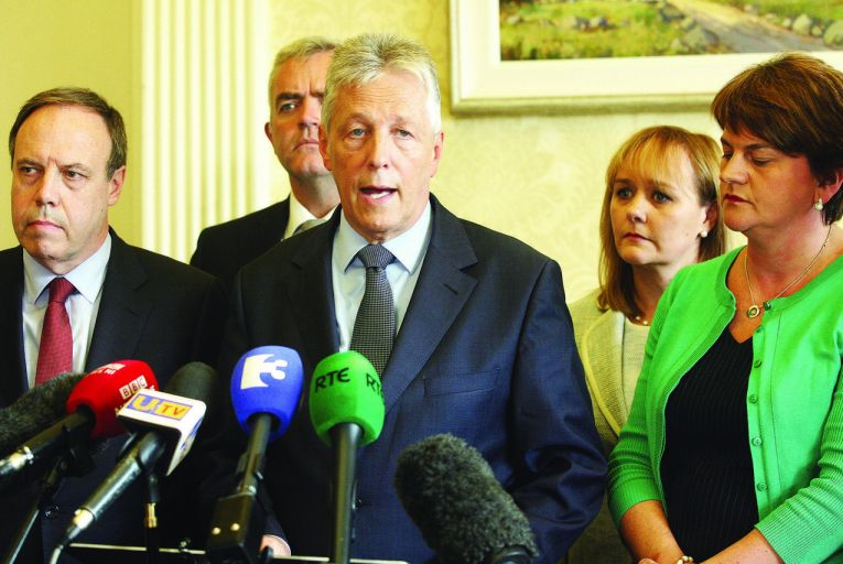 Peter Robinson, the DUP leader, is taking part in multi-party talks to find a solution to the crisisPacemaker