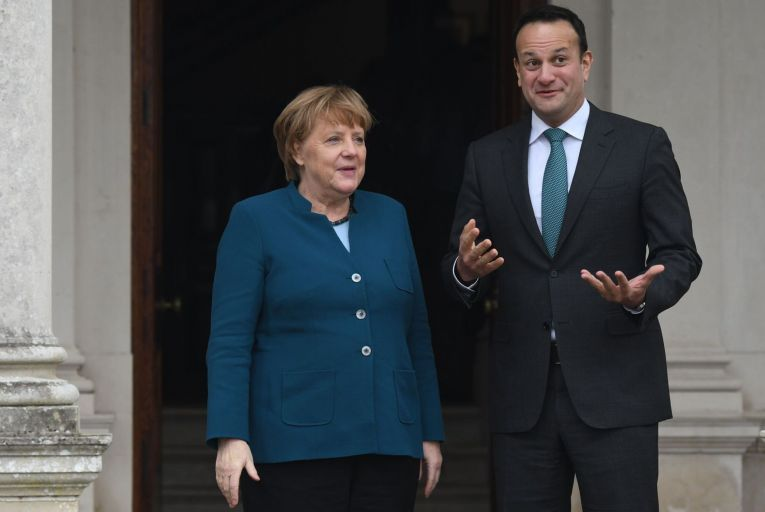 Angela Merkel is about to stand down as German chancellor after 16 years which have been notable for the absence of scandals, but Tánaiste Leo Varadkar has been limping from crisis to crisis. Picture: Artur Widak/NurPhoto