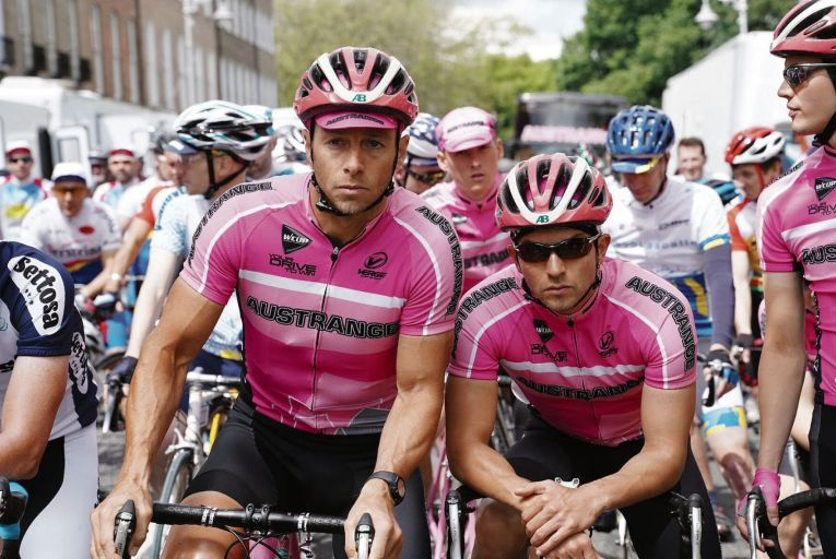Matteo Simoni and Louis Talpe in The Racer, a fictionalised look back at the doping scandal that marred the 1998 Tour de France