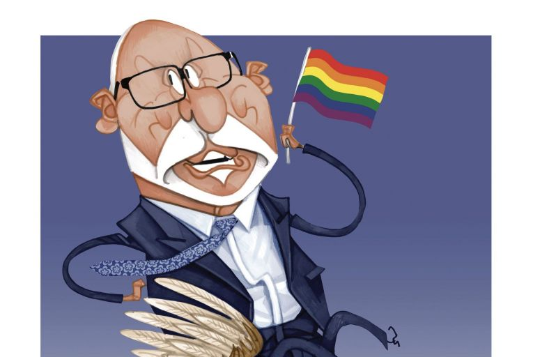 Paul Singer's support for marriage equality doesn't seem to have affected his conservatism in any other area