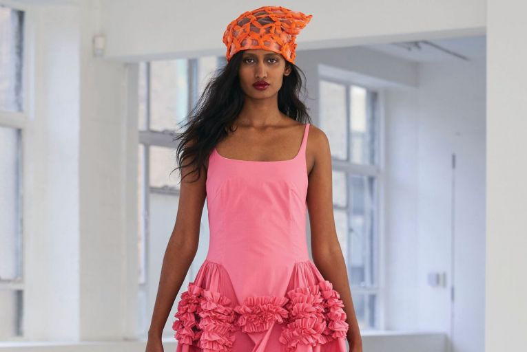 Molly Goddard has been christened the Marie Kondo of the catwalk, creating playful dresses that spark joy in the wearer