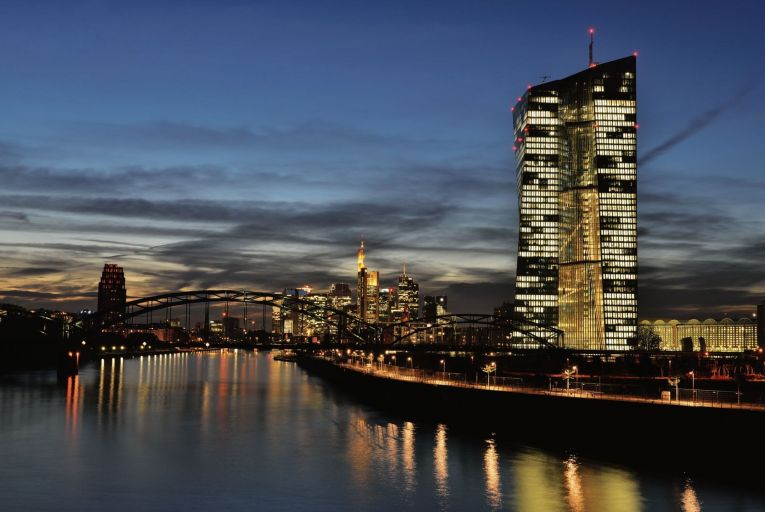The European Central Bank headquarters in Frankfurt: since 2010, the ECB has not only loosened monetary policy, it has opened the floodgates. Photo: Getty
