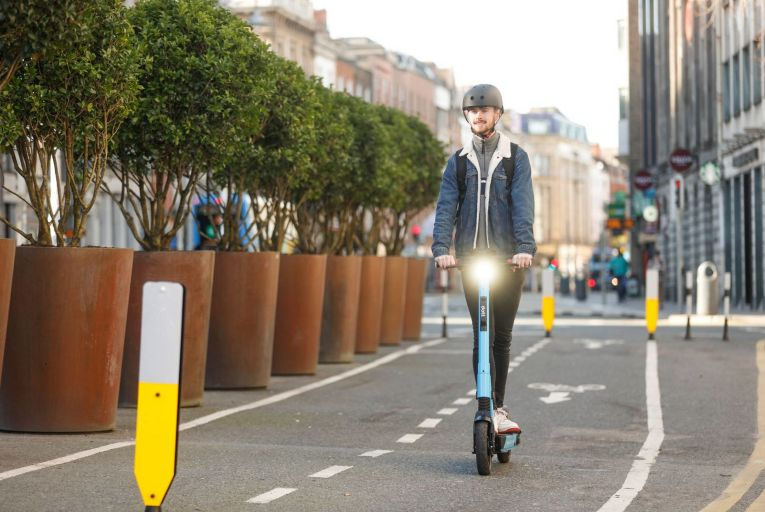 The government approved draft legislation in February to allow the regulation of e-scooters, such as those owned by Dott, which are currently banned on Irish roads. Picture: Conor McCabe Photography.