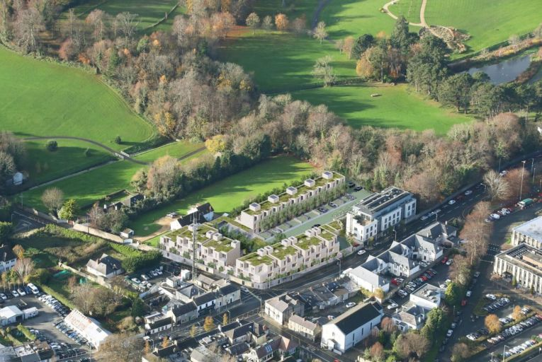 An aerial shot of the Heron Wood estate in Cabinteely, south Co Dublin.