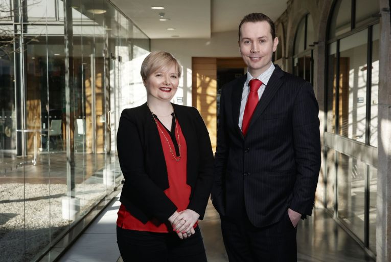 Sinead Byrne and Padraig Rushe of Initiative Ireland: the start-up plans to ramp up activity this year in both Ireland and Britain. Picture: Harrison Photography