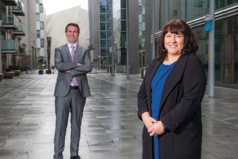 Féilim Harvey, partner and head of Portfolio and Programme Management Practice, PWC Ireland and Jackie Glynn, president, Ireland chapter of PMI. Picture: Naoise Culhane Photography