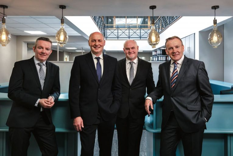 Directors of Vision Construction, from left to right: Aidan Drummond, pharma and industrial director; Niall O'Meara, managing director; Colm Fehily , commercial director and Mick Allen, construction director