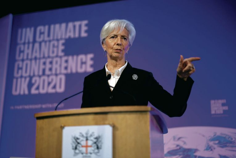 Christine Lagarde, president of the European Central Bank, gave an important speech last week about the strategic direction of European monetary policy Picture: Getty