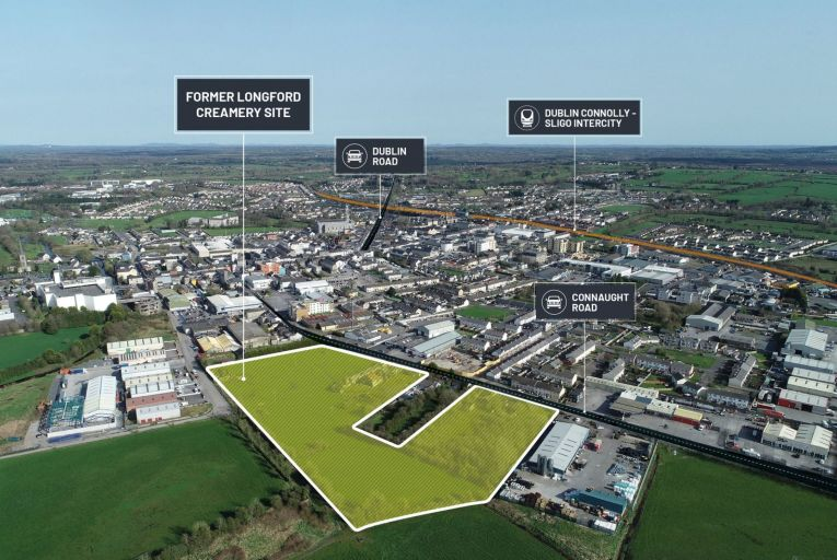 The development lands of 2.84 hectares has planning for a number of commercial buildings