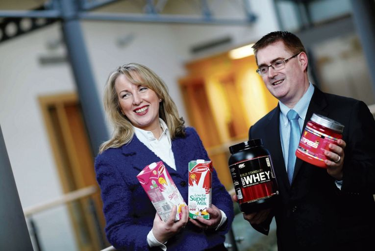 Siobhan Talbot and Mark Garvey of Glanbia: earnings have slumped. Picture: Clarke Photography