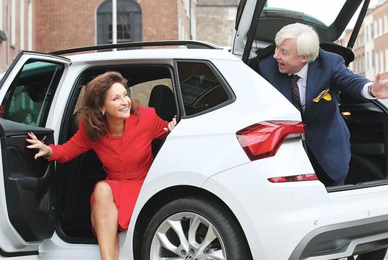 Celia Holman-Lee and Francis Brennan launch Skoda's initiative Simply Older, Still Clever, which aims to bring retirees back into the workforce during busy periods  Marc O'Sullivan
