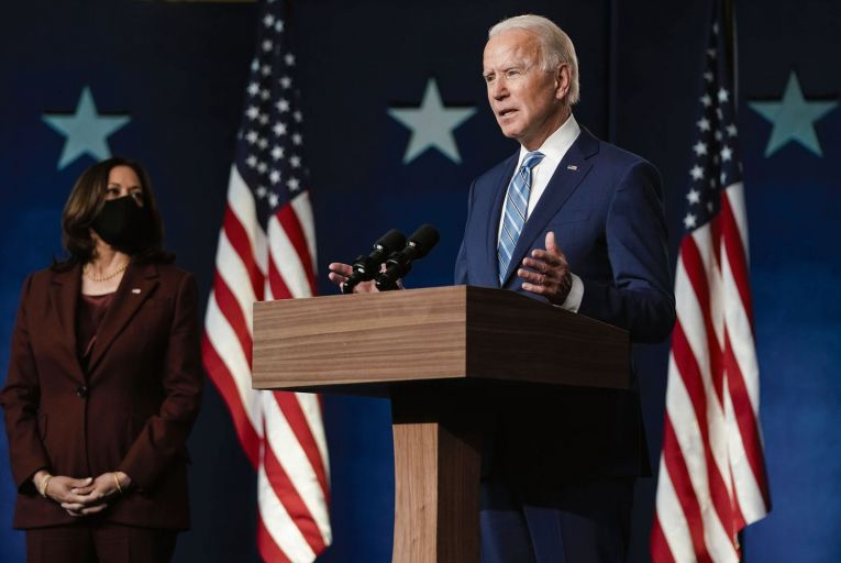 Joe Biden and Kamala Harris: Irish radio was consumed by the theatre of the US presidential election. Picture: Getty