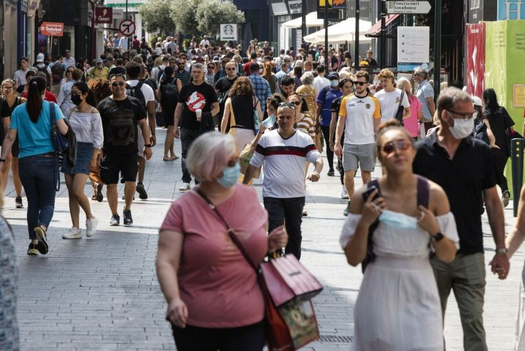 A busy Grafton Street in Dublin: 'the country needs to alter its expectations as the virus becomes endemic and adapt to restrictions long term'. Picture: Fergal Phillips