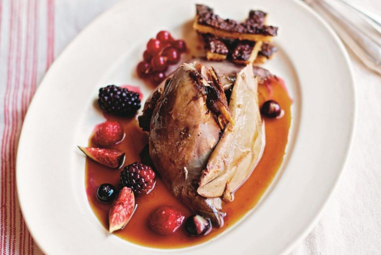 Pierre Koffmann's grouse with fruit sauce and game toast