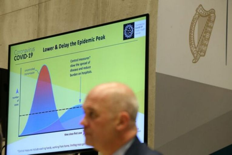 Tony Holohan, the chief medical officer, at a coronavirus briefing. Official statements have been clear on the need to protect the most vulnerable. Picture: Rollingnews.ie