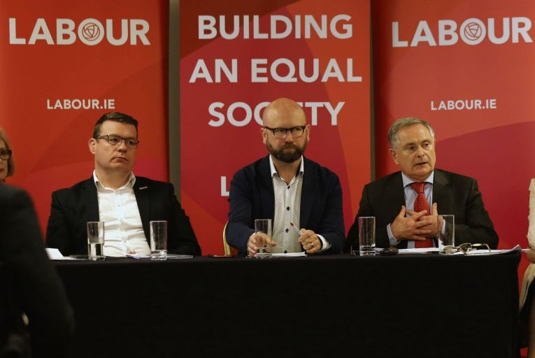 Alan Kelly, Ged Nash and outgoing Labour leader Brendan Howlin Picture: RollingNews.ie