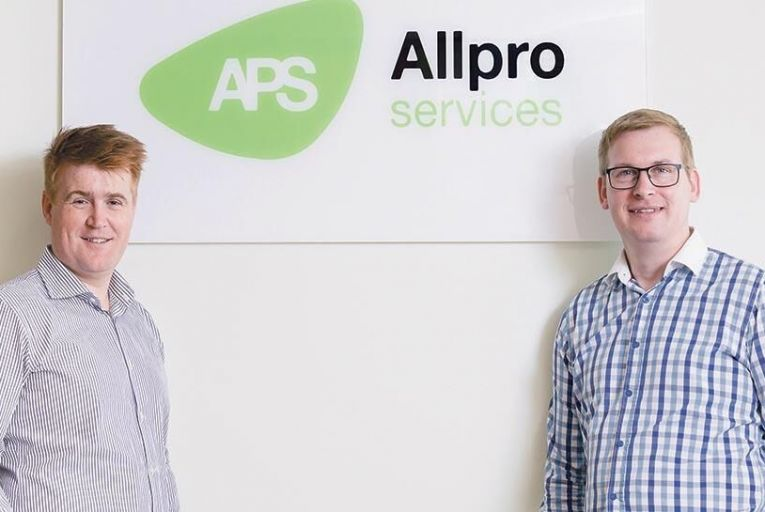 Conor Nolan, operations manager, and Alan Connolly, sales manager at Allpro Services