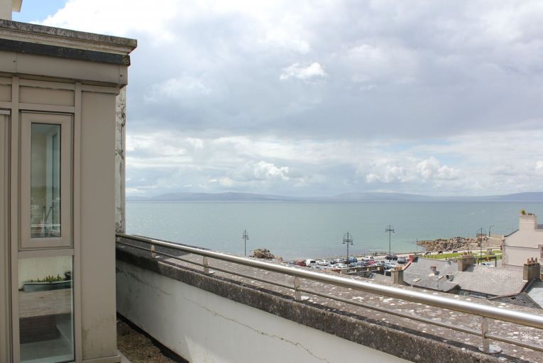 The view from 79 Baily Point, a fourth-floor, two-bedroom apartment of 82 square metres with a 50 square metre terrace
