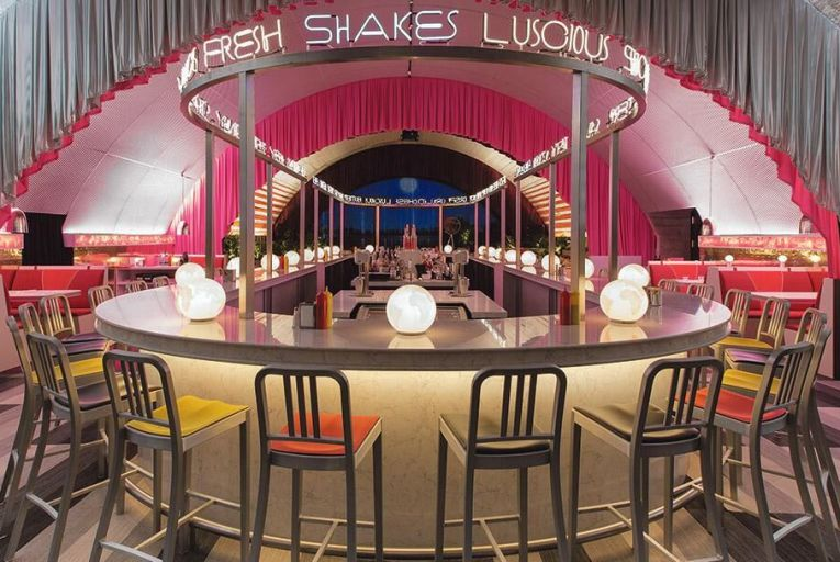 Surface diner bar in collaboration with NY-based architect David Rockwell