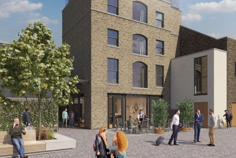A CGI representation of the proposed development at Marlborough Place in Dublin 1