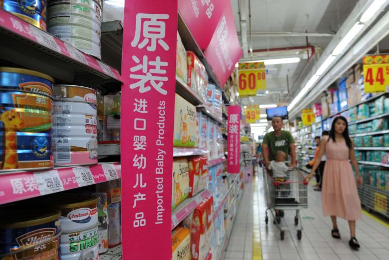 'There's a large cohort of Chinese consumers that want infant formula that has an English label on it as opposed to a Chinese label. They consider it of higher quality even though the products are often made in the same factory.' Picture: Getty