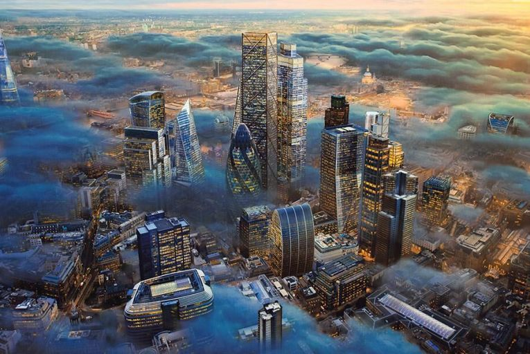 Tomorrow's world: a computer-generated image of what London might look like in the future Picture: Getty