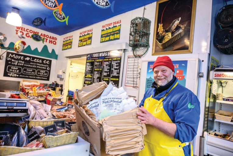 Stefan Griesbach, owner of Gannet Fishmongers: 'I want to work with customers who cook, not just heat things up.' Picture: Declan Colohan