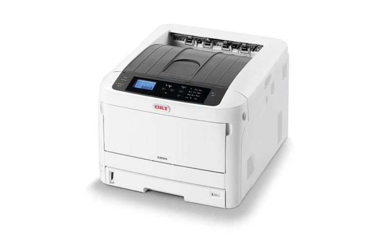 The Oki C834dnw: is easy to use and equipped with energy-efficient, time-saving technology