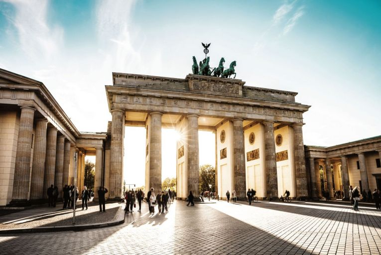 The Brandenburg Gate in Berlin