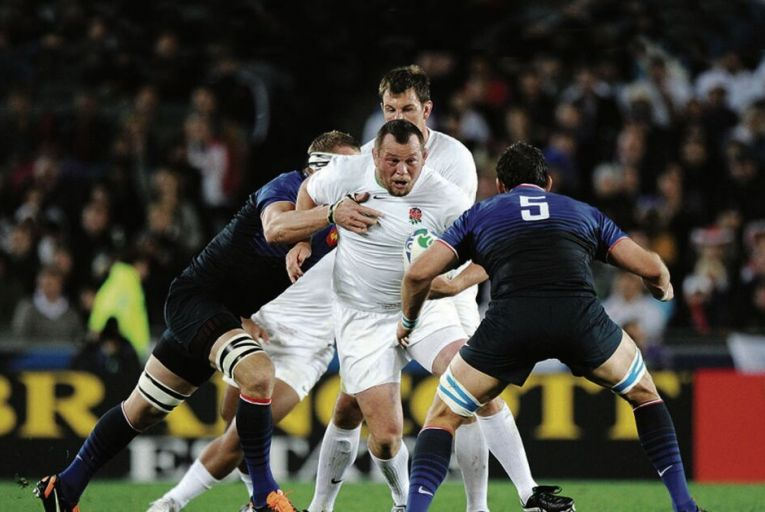 England's Steve Thompson in action against France at the 2011 Rugby World Cup quarter final in New Zealand in 2011. Picture: INPHO/Andrew Cornagas