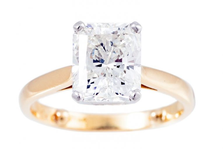 One of two stunning solitaire diamond rings on sale at O'Reilly's Fine Art