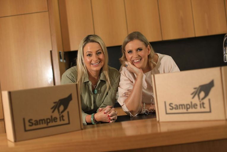 Nicola de Beer Managing Director and Libby Keeling, Director at Sample It as they launch their innovative at home brand sampling business. Picture: Julien Behal