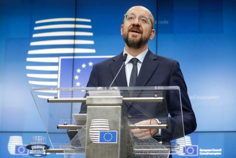 "Charles Michel, president of the European Council,  tweeted on February 21 that, ""as my grandmother used to say, in order to succeed you have to try"".  Picture: Getty"