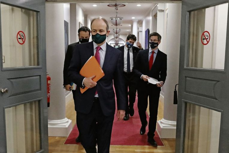 """'The Taoiseach may have declared on Tuesday that """"the end is now truly in sight"""", but for most people the path ahead is far from clear'. Picture: Julien Behal"""